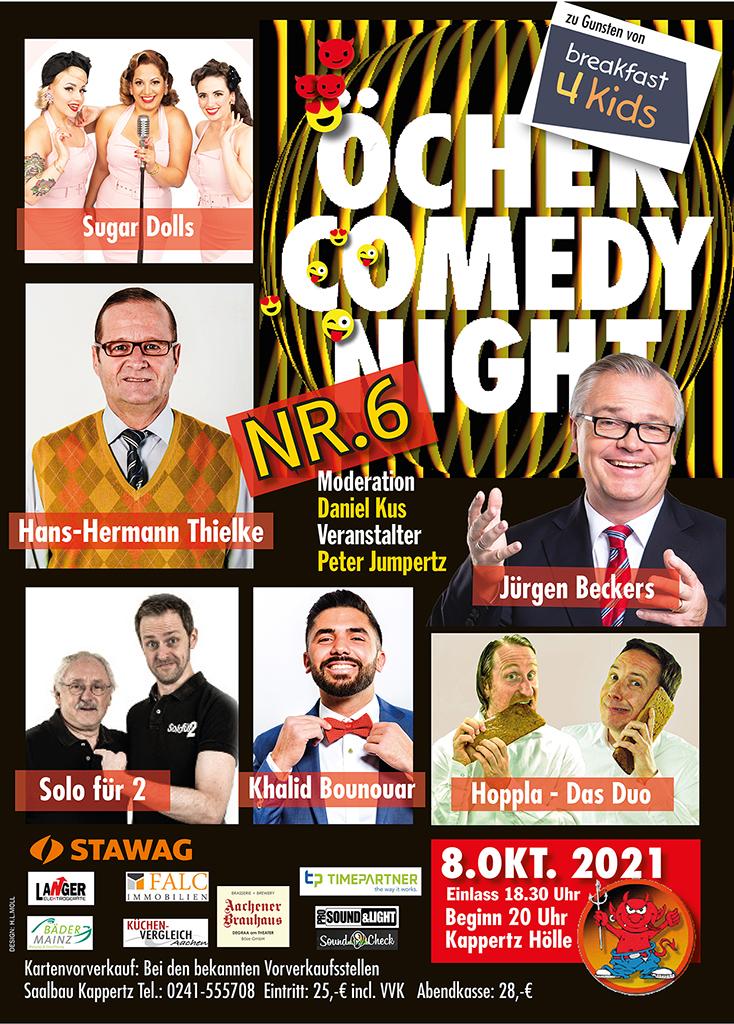Plakat Öcher Comedy Night 8.10.2021