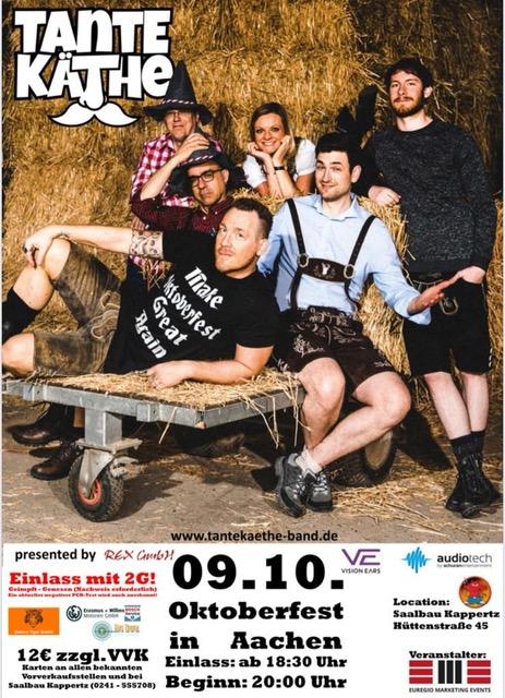 Plakat Oktoberfest Kappertz 9.10.2021