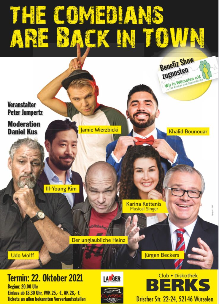 The Comedians are back in Town 22. Oktober 2021